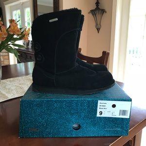 """Emu """"Charlotte"""" black waterproof boots - size 9"""
